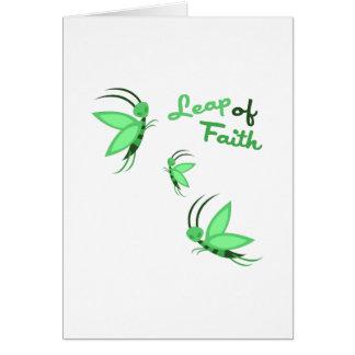 Salto de la fe tarjetón