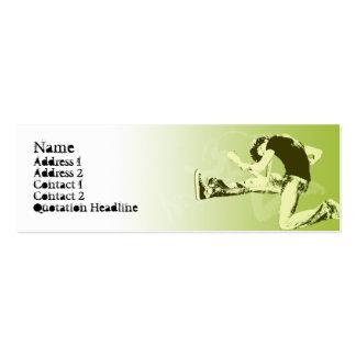 Salto de la guitarra - flaco tarjeta de visita
