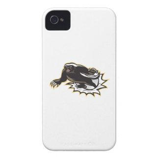 Salto de la mascota del tejón de miel iPhone 4 funda