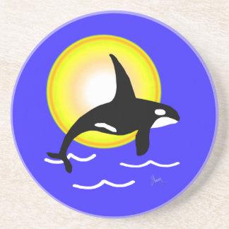 Salto de la orca y del práctico de costa de Sun Posavasos Diseño
