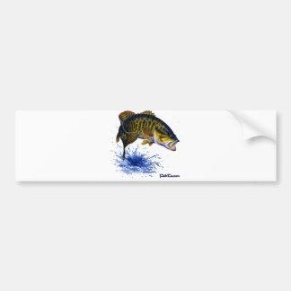 Salto de la perca canadiense pegatina de parachoque