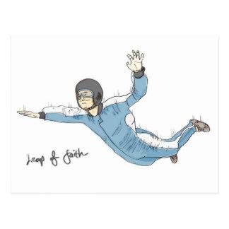 Salto de la postal de la fe (estímulo): Skydiving