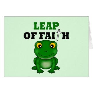 Salto de la rana de la fe felicitaciones