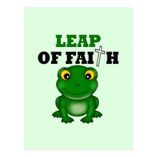 Salto de la rana de la fe postal