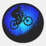SALTO de la roca de la bici Pegatina Redonda