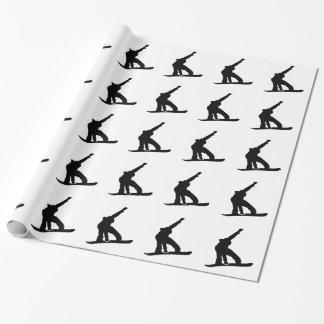 Salto de la snowboard papel de regalo