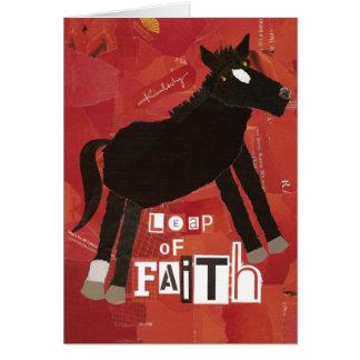 Salto de la tarjeta de felicitación de la fe