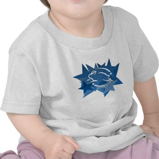 Salto de las estrellas del conejito camiseta