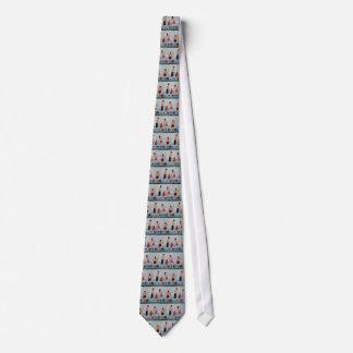 Salto de las ondas corbata personalizada