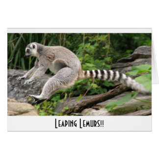 ¡Salto de Lemurs!! Tarjeta De Felicitación