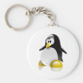 Salto de Linux Llavero Redondo Tipo Pin