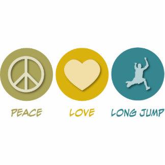 Salto de longitud del amor de la paz escultura fotografica