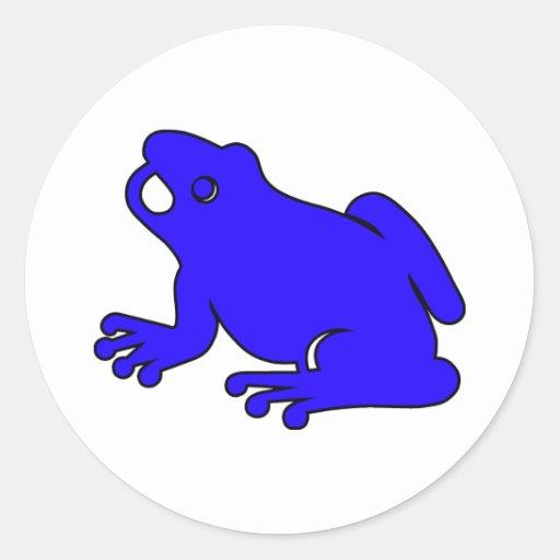 Salto de los anfibios del salto del Froggy de la Pegatina Redonda
