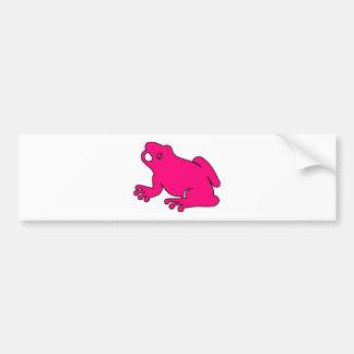 Salto de los anfibios del salto del Froggy de la s Etiqueta De Parachoque