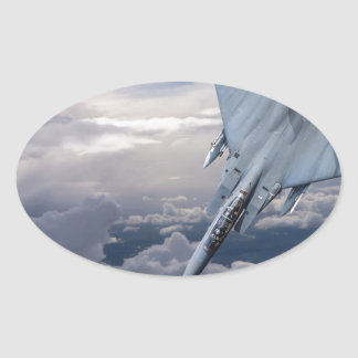 Salto de los pares F15 Pegatina Ovalada