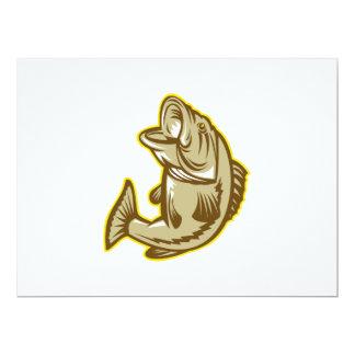 Salto de los pescados de la perca americana retro