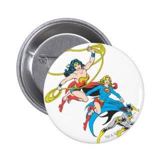 Salto de los Superheroines Pin
