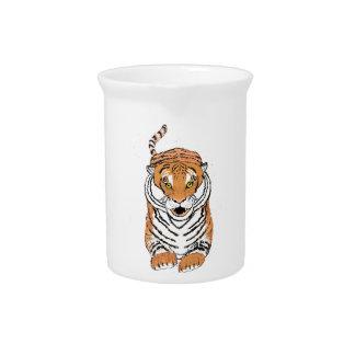 Salto de productos del tigre jarrones