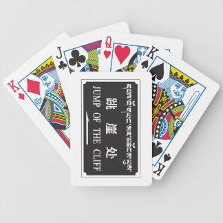 Salto del acantilado, muestra china baraja cartas de poker