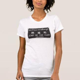 Salto del acantilado, muestra china tee shirt