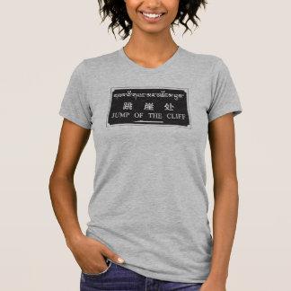 Salto del acantilado, muestra china tshirts