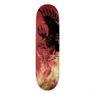 salto del águila en fuego skateboard