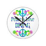 Salto del amor de la paz relojes