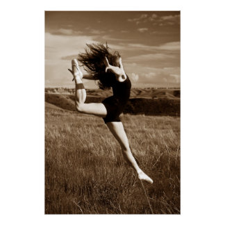 Salto del bailarín impresiones