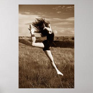 Salto del bailarín póster