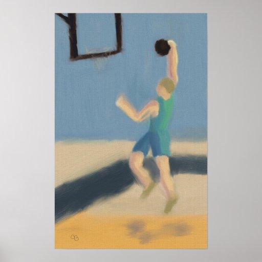 Salto del baloncesto, poster