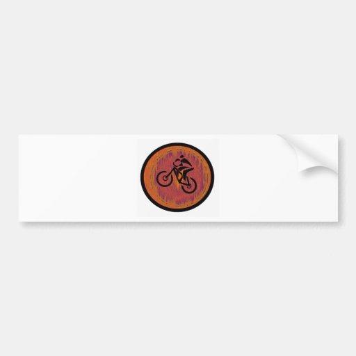 Salto del barranco de la bici etiqueta de parachoque
