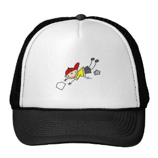 Salto del béisbol en el gorra de la placa