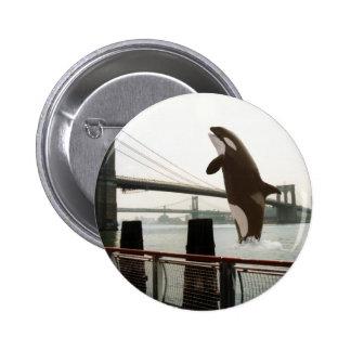 Salto del botón del puente de Brooklyn Pin