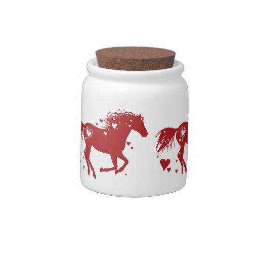 Salto del caballo jarra para caramelo