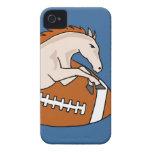 Salto del caballo o del potro en fútbol iPhone 4 Case-Mate cobertura