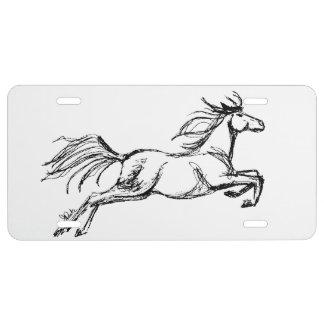 Salto del caballo placa de matrícula