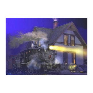 Salto del Caboose en Dolores, CO Impresión En Lona Estirada