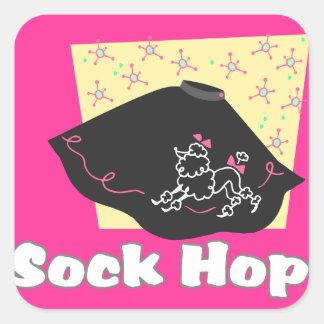 Salto del calcetín calcomania cuadradas personalizada