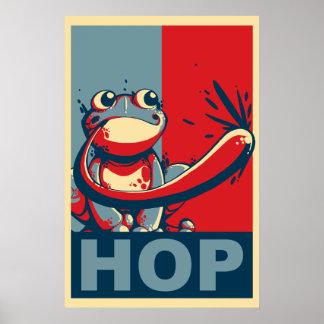 Salto del candidato póster