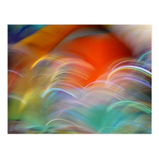 Salto del color tarjeta postal