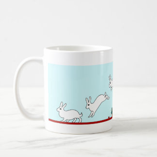 Salto del conejito (azul) taza de café