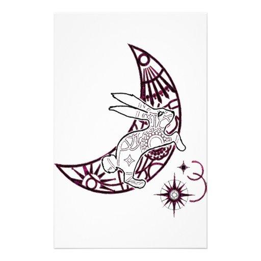 Salto del conejito de la luna papelería