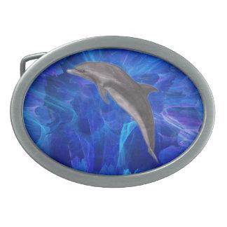 Salto del delfín hebillas cinturón ovales