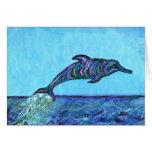 Salto del delfín tarjeton