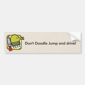 Salto del Doodle Pegatina Para Auto