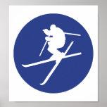 Salto del estilo libre del esquí impresiones