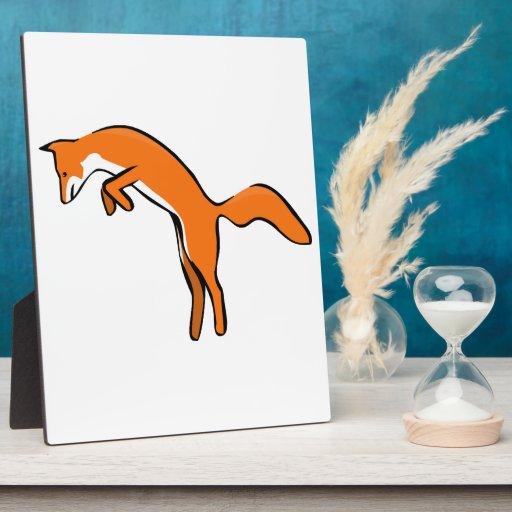 Salto del Fox rojo Placas De Plastico