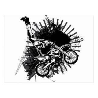 Salto del Grunge del motocrós Tarjeta Postal