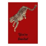 Salto del guepardo invitación 12,7 x 17,8 cm
