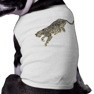 Salto del guepardo playera sin mangas para perro